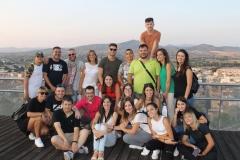 Foto di gruppo nel punto panoramico